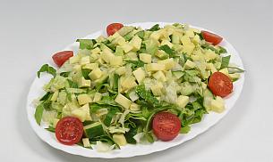 Salata verde tocata marunt cu mango si avocado 6 portii