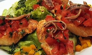 Bruschette cu file de anchoise